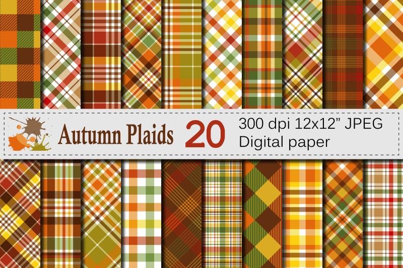 Autumn-Plaid-Digital-Paper-Fall-Plaid-Backgrounds-by-VR-Digital-Design
